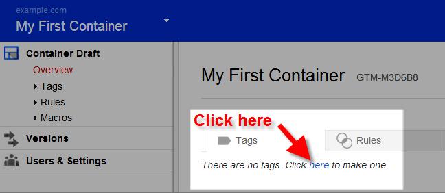 google tag manager make tag