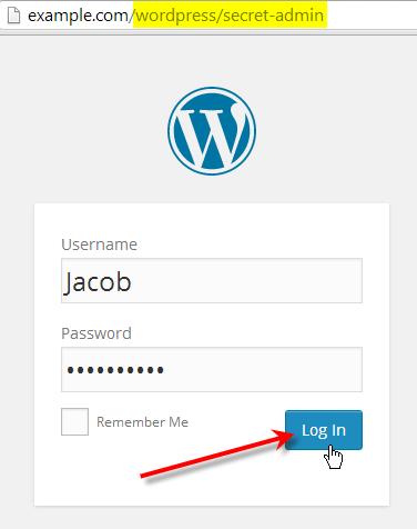 after lockdown wp-admin plugin installed login with secret url