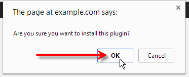 click ok on pop up