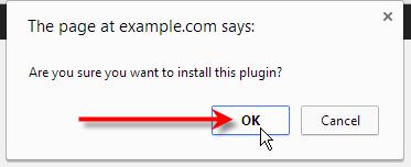 click ok on pop up