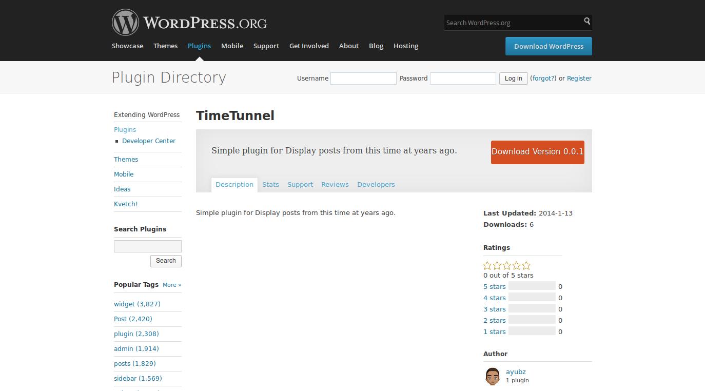 wordpress plugins timetunnel 1