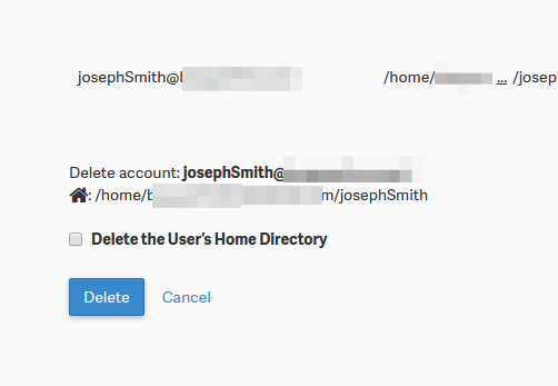 confirming ftp account deletion