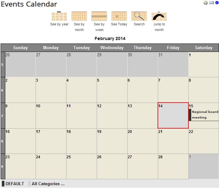 Jevents calendar for Joomla 3