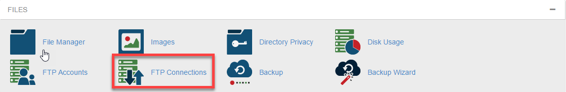 access ftp session list