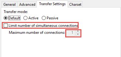 ftp limit ftp connections 3