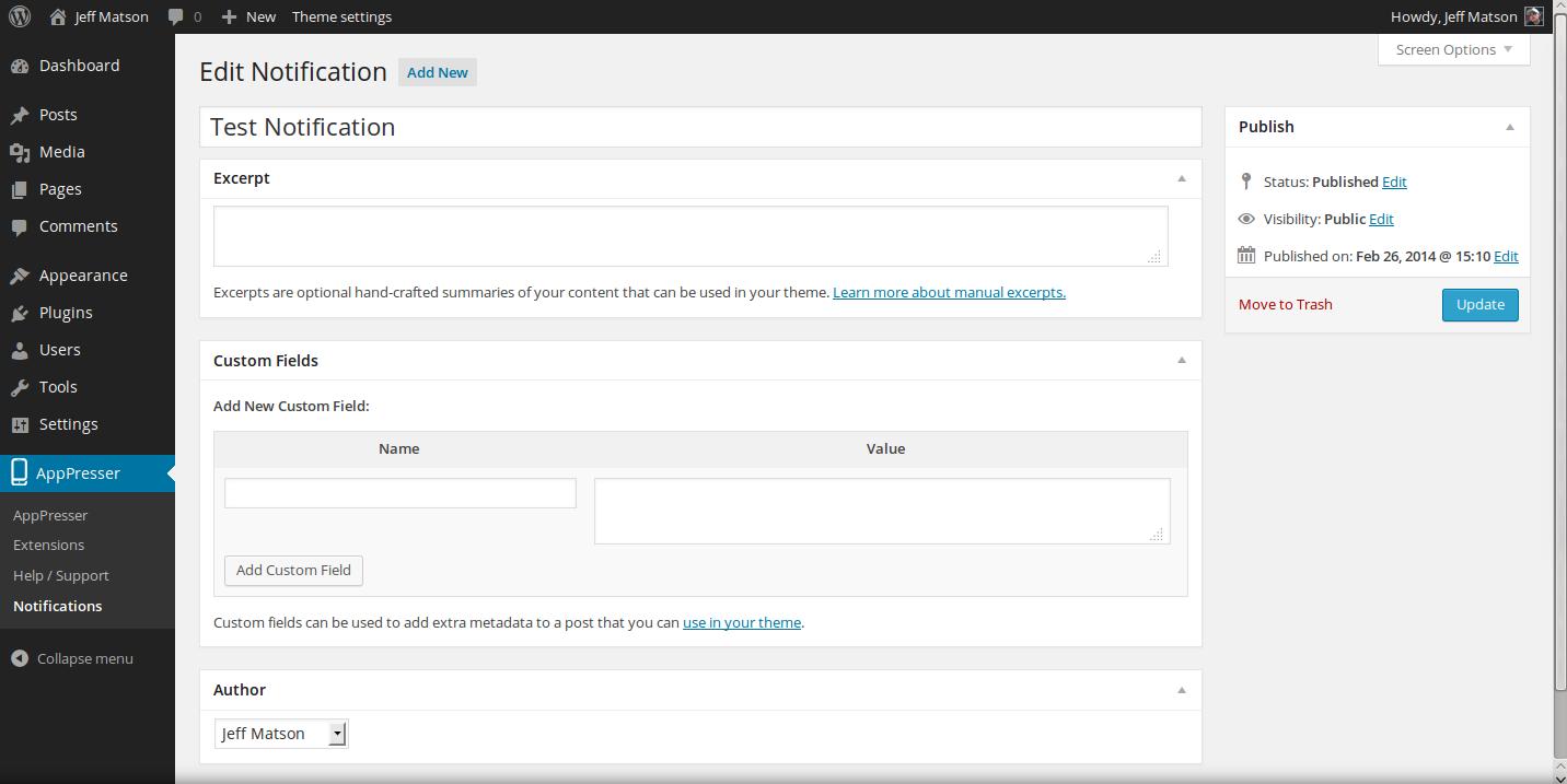wordpress plugins apppush 15