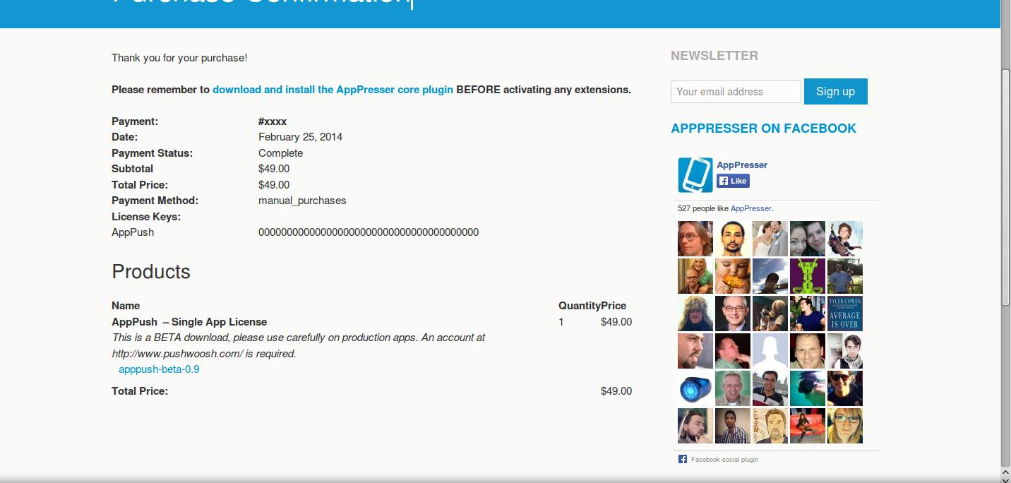 wordpress plugins apppush 3