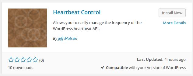 wordpress heartbeat control 3