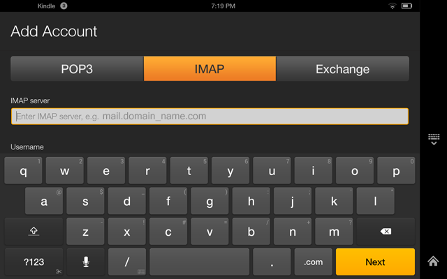 Setting up an Email Account on Your Kindle Fire Tablet | InMotion