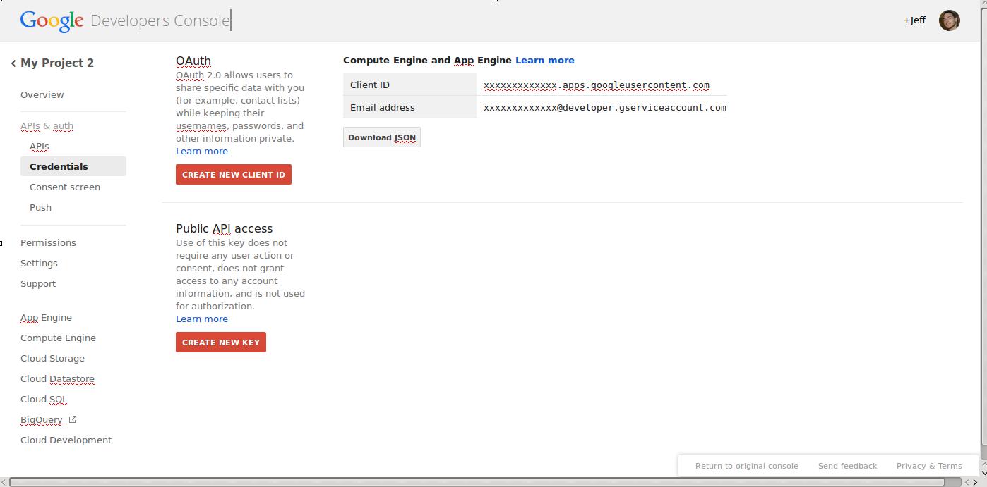 google tools google api keys 5