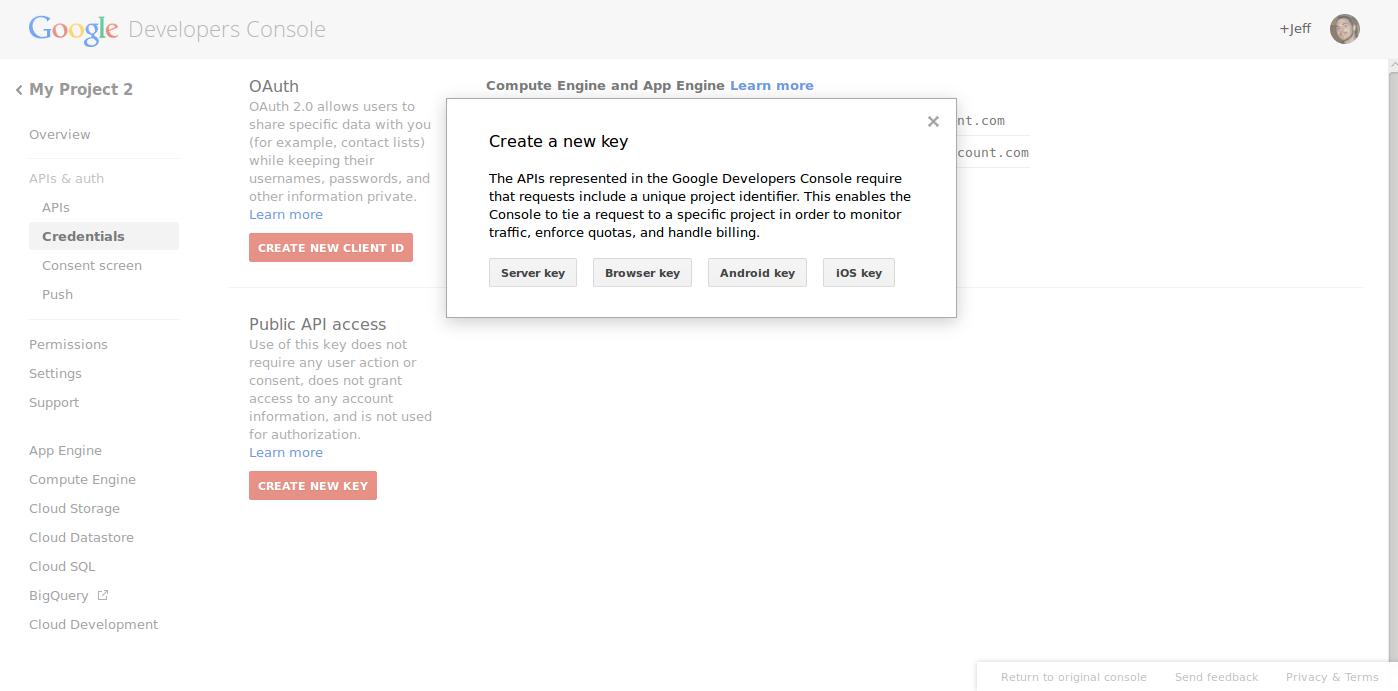 google tools google api keys 7