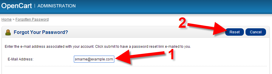 input your email address for the dashboard login
