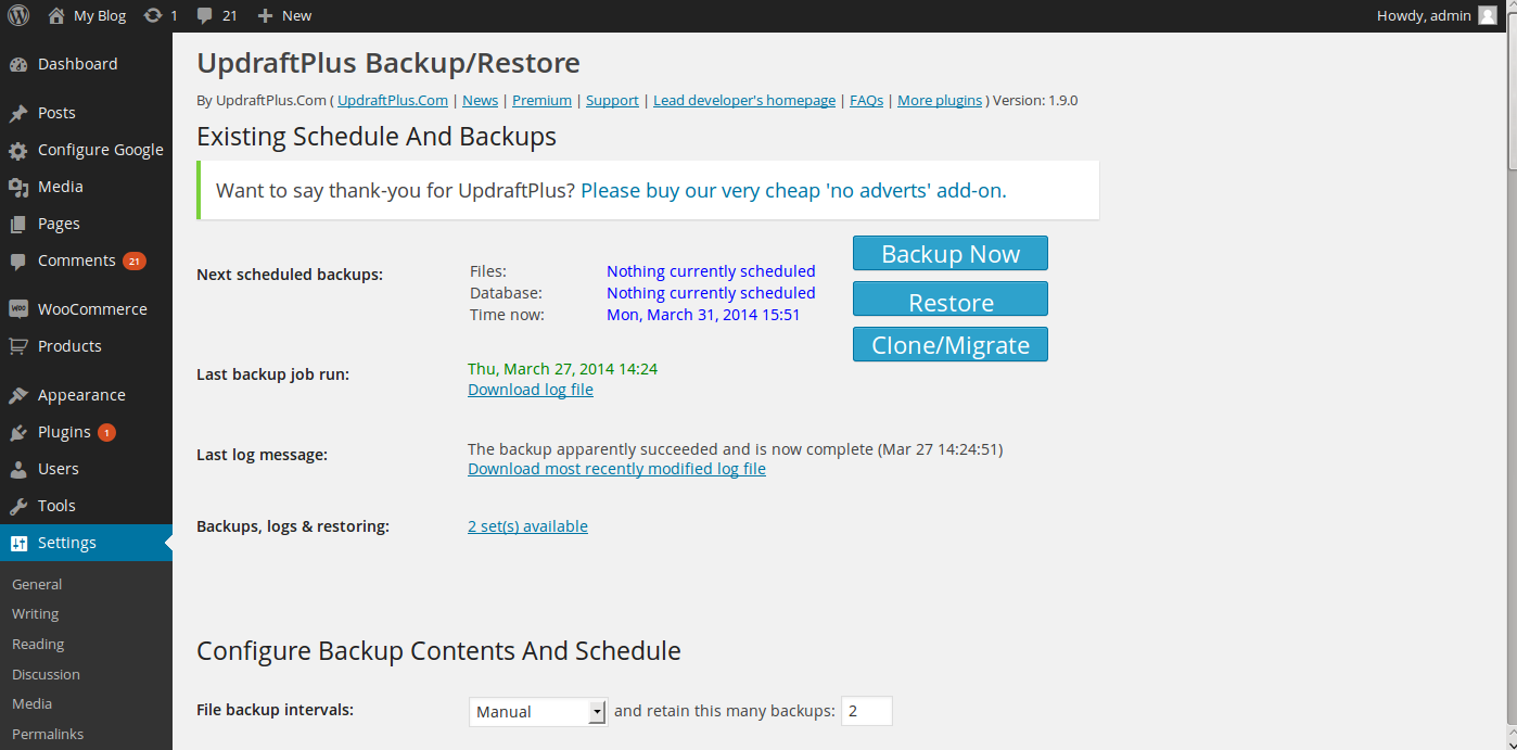 wordpress google drive backup 4