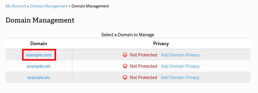 Manage WHOIS Data