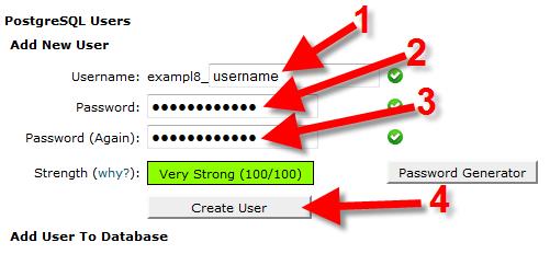 postgresql db user create user