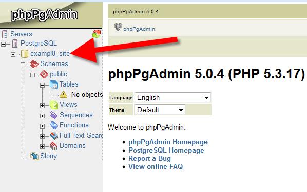 postgresql import db select database