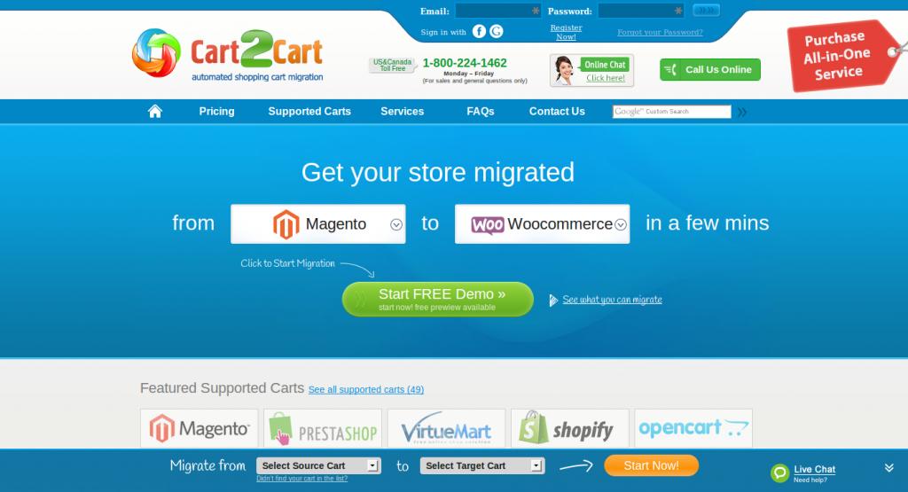Cart2Cart Magento Start