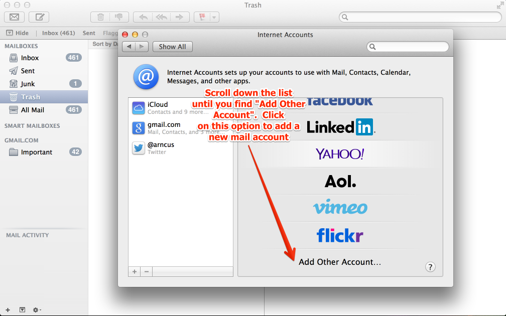 Types Of Email Accounts >> Updated How To Set Up Mac Mail Inmotion Hosting Support Center