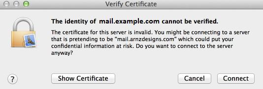 Approve Certificate window