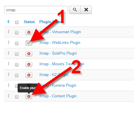 turning the xmap features on to create a xml sitemap