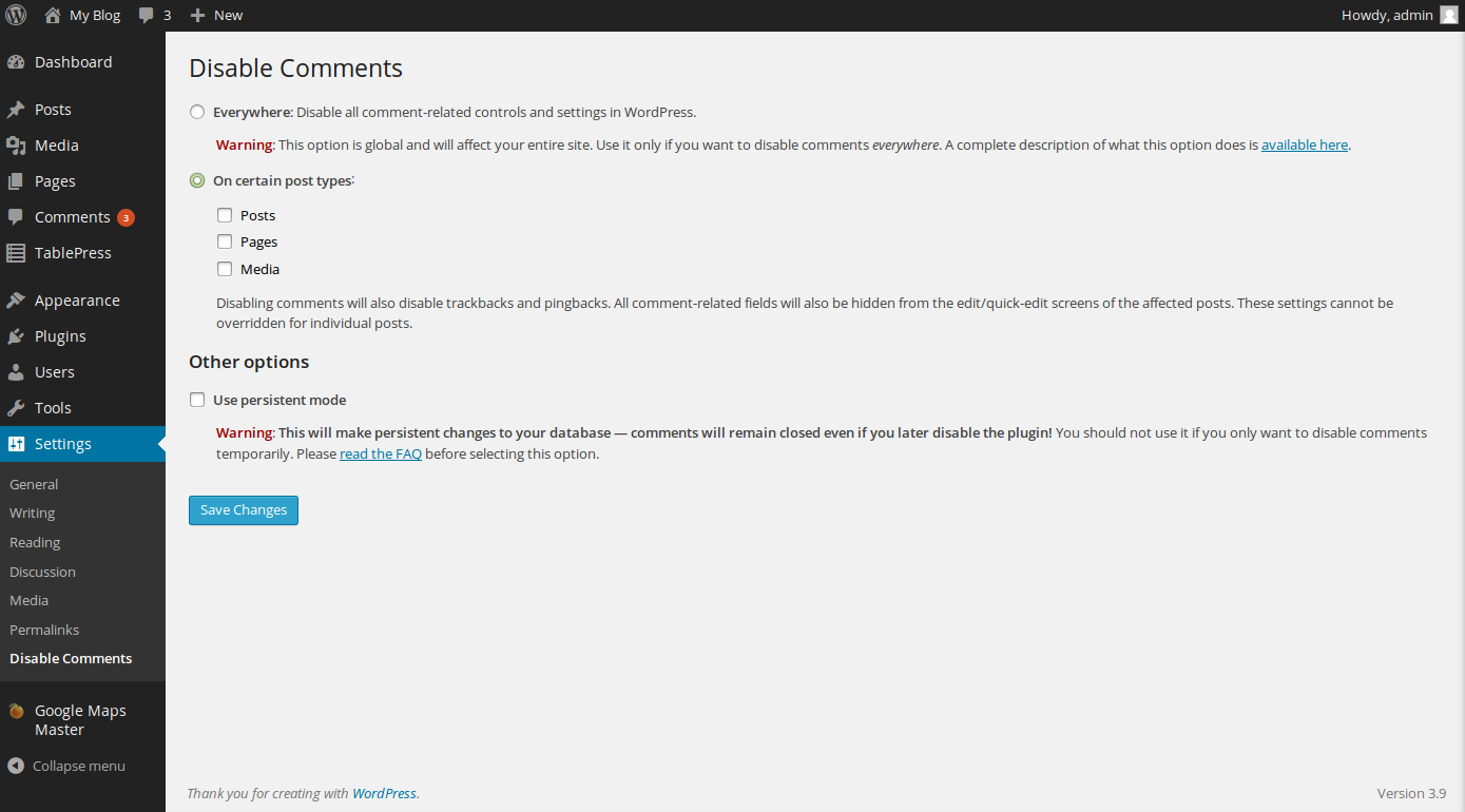 wordpress disable comments 4
