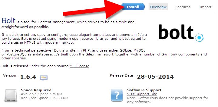 Install Bolt CMS via cpanel