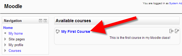 Access class in Moodle