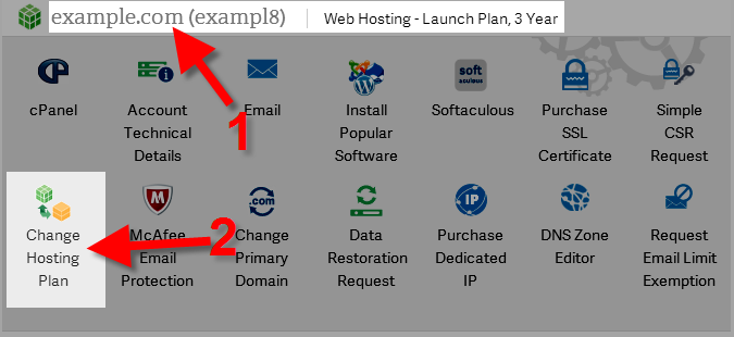 Modify plan in AMP