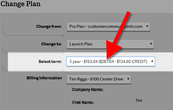 change plan terms in amp