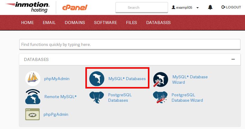 cpanel cPanel mysqlDatabasesIcon highlight
