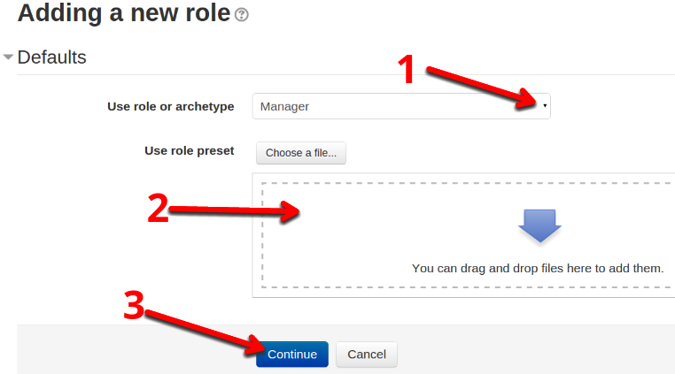 Adding a new role in Moodle