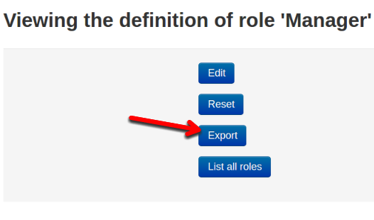 Moodle Role settings