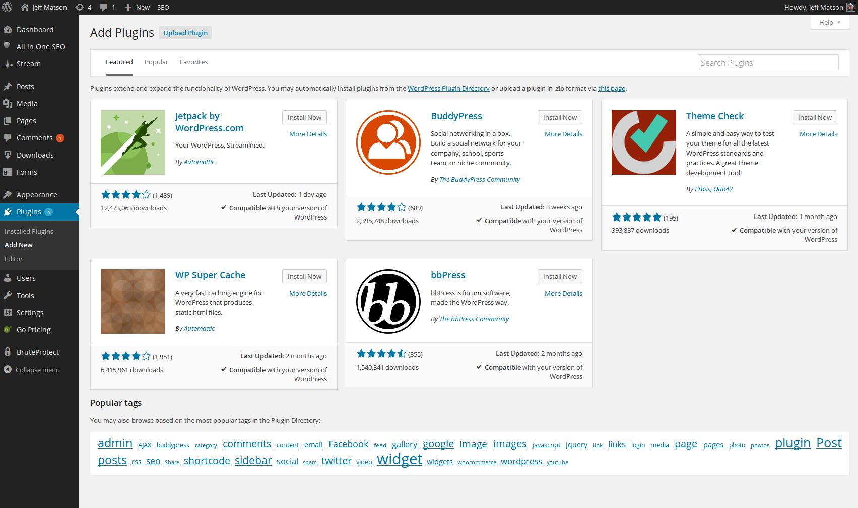 wordpress plugins install ithemes security 1