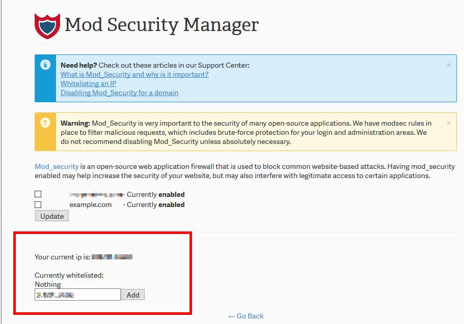 mod security 02 enter ip