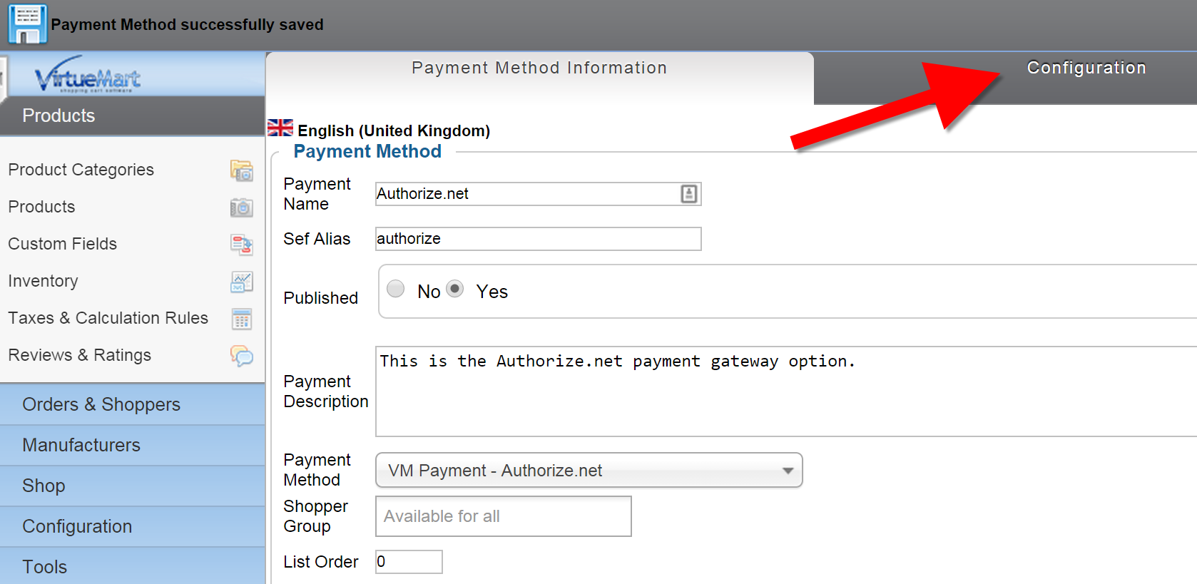 Configuring Auth in VM