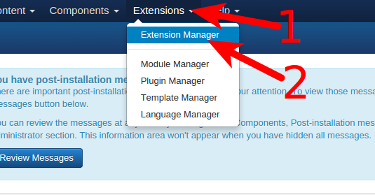 VM3 Extension installation