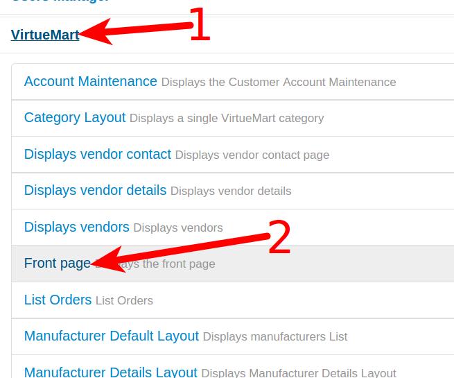 Selecting VM3 as a menu item