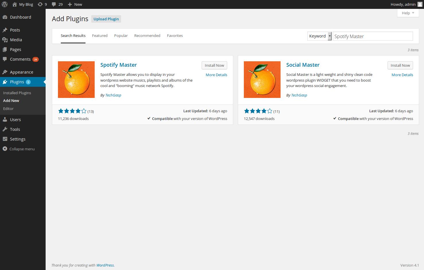 wordpress plugins spotify master 3