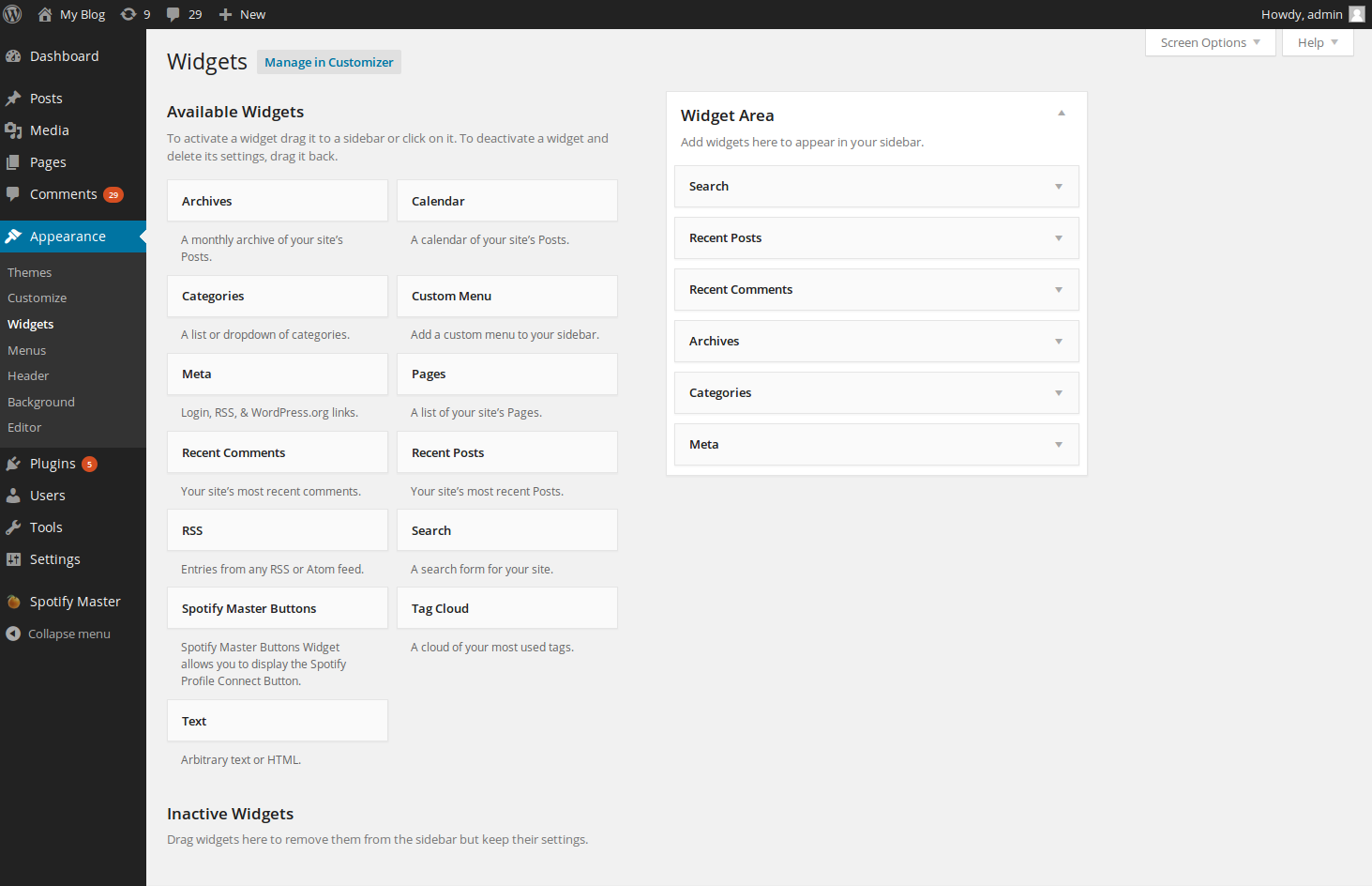 wordpress plugins spotify master 5