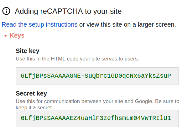 WP-reCAPTCHA setup