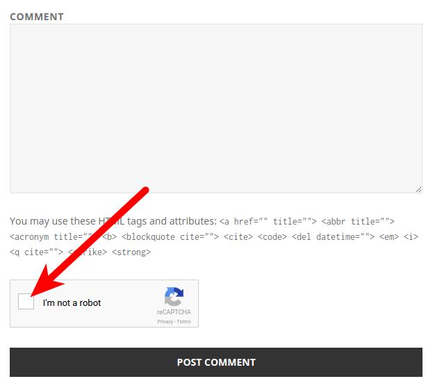Example of WP-reCAPTCHA