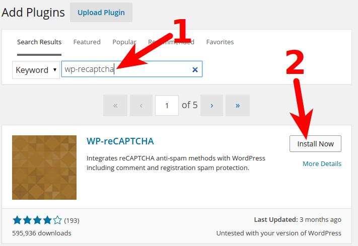 Setup WordPress Captcha