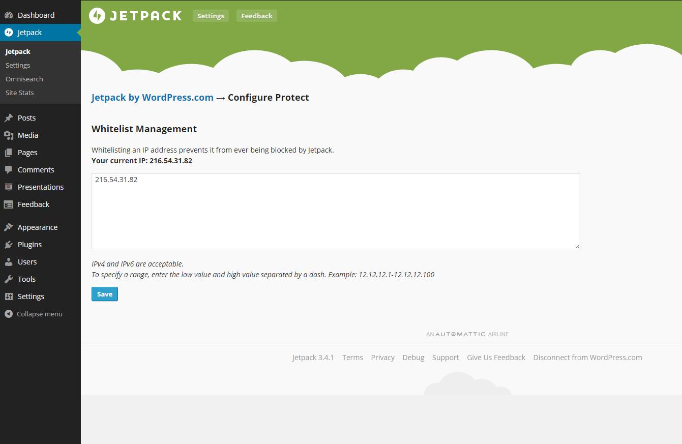 New features in the Jetpack WordPress plugin