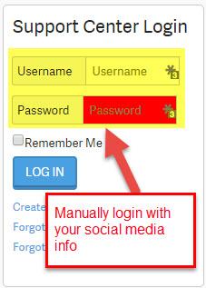 manual login