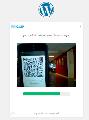 Hold QR code on phone up to webcam on computer