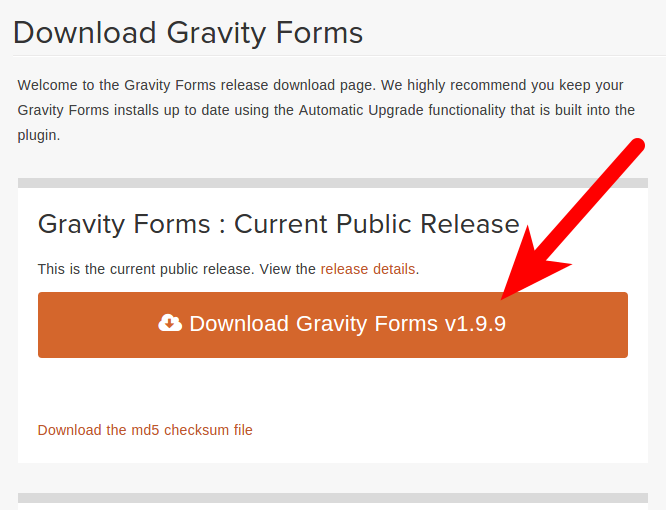 Acquiring Gravity Forms