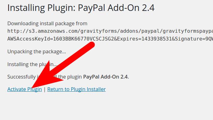 Gravity Forms Plugin Addon in WordPress