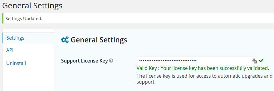 Gravity forms support Key setup
