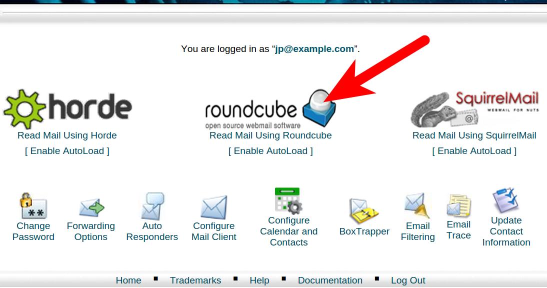 Access Roundcube