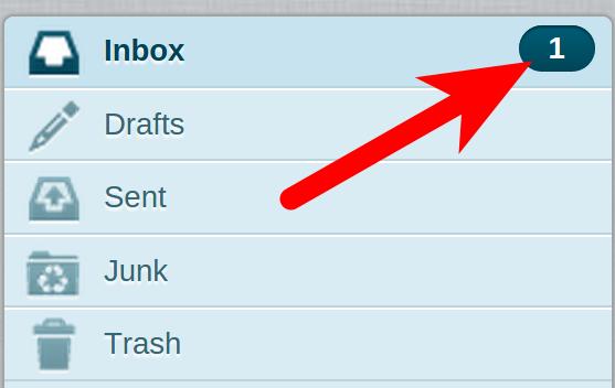 Roundcube email Inbox